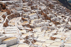 Inca Salt pans at Maras, Peru Royalty Free Stock Photos
