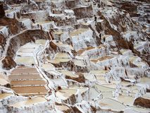 Inca Salt Pans in Peru Stock Photography