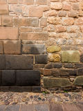 Inca and spanish wall in Cuzco Royalty Free Stock Photography