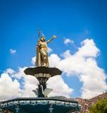 Inca statue cusco Peru. Inca statue on a fountain in Cusco Peru Royalty Free Stock Photo