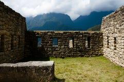 Inca Stone Bricks Construction - Machu Picchu - Peru. Inca Stone Bricks Construction in Machu Picchu - Peru royalty free stock photo