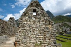 Inca Stone Bricks Construction - Machu Picchu - Peru royaltyfria foton