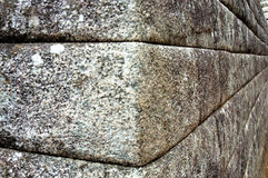 Inca Stone Wall. Corner in Machu Picchu stock photo