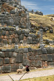 Inca stone wall Royalty Free Stock Images