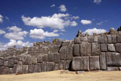 Inca stone wall in Cuzco, Peru Royalty Free Stock Photos