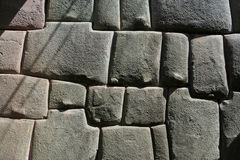 Inca stonemason work. Perfect historic stonemason work at Cusco Stock Photography