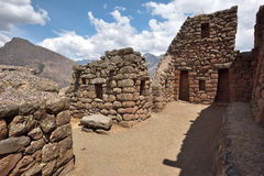 Inca structures in the urban sector of Pisac Stock Photos