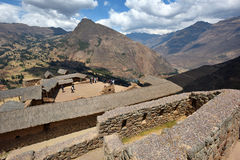 Inca structures in the urban sector of Pisac Stock Photography