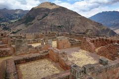 Inca structures in the urban sector of Pisac Royalty Free Stock Photo