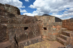 Inca structures in the urban sector of Pisac Royalty Free Stock Images