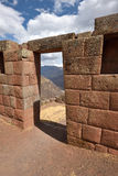 Inca structures in the urban sector of Pisac Royalty Free Stock Photos