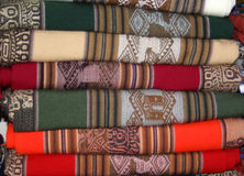 Inca style knits. Colorful inca style cover knits Stock Photography