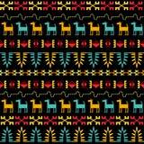 Inca Style Seamless Pattern Lizenzfreie Stockfotos