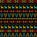 Inca Style Seamless Pattern Royalty Free Stock Photos