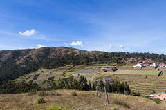 Inca terraces in Chinchero Royalty Free Stock Photography