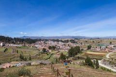 Inca terraces in Chinchero stock photography