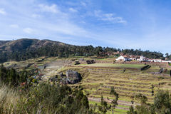 Inca terraces in Chinchero royalty free stock images