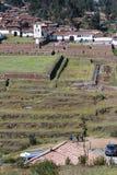 Inca terraces in Chinchero royalty free stock photo