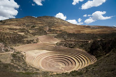 Inca Terraces of Moray Stock Photography