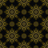 Inca tile gold Royalty Free Stock Image