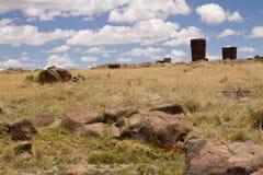 Inca tombs Stock Images