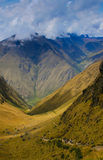 Inca Trail. Dead Woman's Pass on Inca Trail to Machu Picchu stock photography