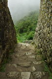Inca trail. Inca steps on Machu Picchu royalty free stock images