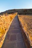 Inca trail on Amantani' Island, Titicaca Lake, Peru Stock Photos
