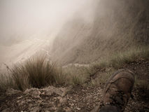 Inca Trail From Dead Woman Pass Royalty Free Stock Images