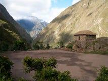 Inca Trail Football Pitch arkivbild