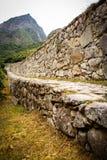 Inca trail near machupichu. Royalty Free Stock Image