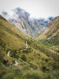 Inca Trail Path Royaltyfria Bilder