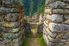 Inca Trail, Peru - August 03, 2017: Ancient ruins of Winay Wayna on the Inca Trail, Peru. Inca Trail, Peru - August 03, 2017: The Ancient ruins of Winay Wayna on stock photos