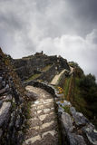 Inca Trail. Ruins along the Inca Trail royalty free stock photos