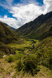 Inca Trail. Ruins along the Inca Trail royalty free stock images