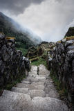Inca Trail. Ruins along the Inca Trail royalty free stock photo