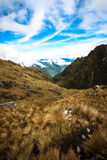 Inca Trail. Third pass of the Inca Trail Royalty Free Stock Photos