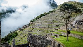 Inca Village in de bergen Peru South America royalty-vrije stock foto