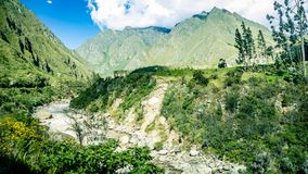 Inca Village in the mountains Peru South America royalty free stock images