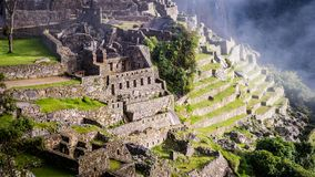 Inca Village in the mountains Peru South America. Very much one of the main tourist attractions and points of interest in the area Royalty Free Stock Photo