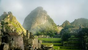 Inca Village in the mountains Peru South America royalty free stock photography