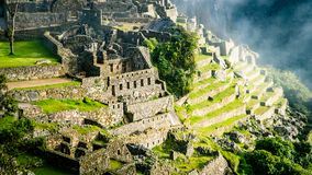 Inca Village in the mountains Peru South America stock photography