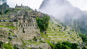 Inca Village in the mountains Peru South America royalty free stock photo