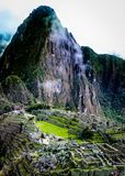 Inca Village in the mountains Peru South America. Very much one of the main tourist attractions and points of interest in the area Royalty Free Stock Image
