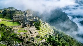 Inca Village in the mountains Peru South America stock image