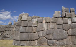 Inca wall. With no space between the stones in Peru Royalty Free Stock Image