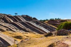 Inca Wall dans SAQSAYWAMAN, Pérou, Amérique du Sud. Exemple de la maçonnerie polygonale. La pierre célèbre de 32 angles Images stock