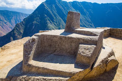 Inca Wall in Machu Picchu, Peru, South America. Example of polygonal masonry. Royalty Free Stock Images