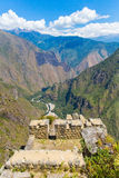 Inca Wall in Machu Picchu, Peru, South America. Example of polygonal masonry. The famous 32 angles stone Stock Photos