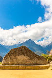 Inca Wall in Machu Picchu, Peru, South America. Example of polygonal masonry. Stock Images